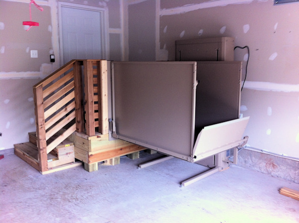 Wheelchair lift installed in your home